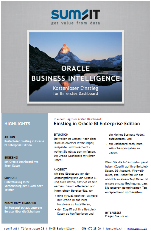 Einstieg in Oracle BI